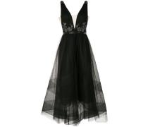 Asymmetrisches Kleid mit Pailletten - Schwarz
