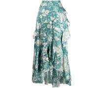 Kleid mit Blumen-Print - Blau
