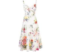 Kleid mit Stickerei - Weiß