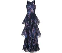 Neckholder-Abendkleid - Blau
