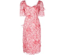 Besticktes Kleid - Rot