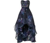 Geblümtes Abendkleid mit Pailletten - Blau