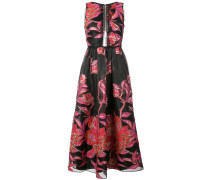 metallic floral jacquard dress - Schwarz