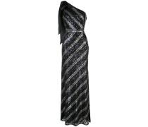 Robe mit Paillettenstreifen - Schwarz