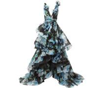 Gestuftes Abendkleid - Schwarz