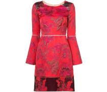 Florales Kleid mit schmaler Passform - Rot
