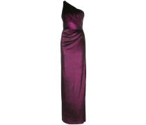 Asymmetrisches Kleid mit Drapierung - Lila