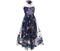 Kleid mit Blumenmuster - Blau