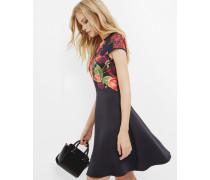 Skater-Kleid mit Juxtapose Rose-Print
