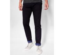 Jeans mit bedrucktem Saum