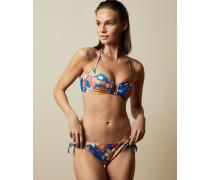 Bikinihöschen mit Pinata-Print und Raffungen