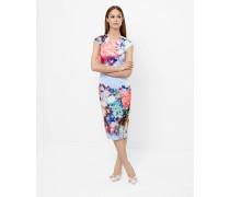 Bodycon-Kleid mit Focus Bouquet-Print