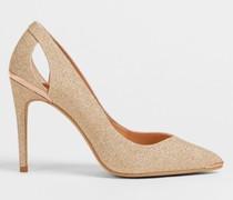 Lurex Heeled Court Shoes