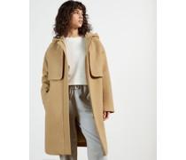 Hooded Mid Length Coat