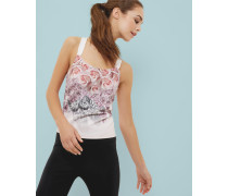 Tailliertes Top mit Dynamic Butterfly-Print