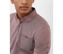 Polohemd aus Baumwolle mit gewebtem Kragen