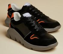 Sneakers aus Leder in Blockfarben