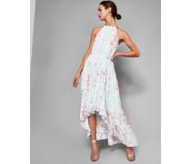 Soft Blossom Pleated Maxi Dress