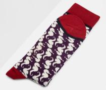 Socken mit Seepferdchen-Muster