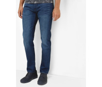 Straight Fit Jeans mit Waschung