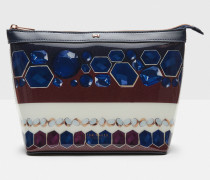 Große Kosmetiktasche mit Rowing Stripe-Print