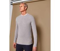 Pullover Mit Strukturierten Ziernähten
