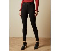 Stretch-Jeans mit Reißverschlussdetail