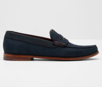 Nubuck suede loafer