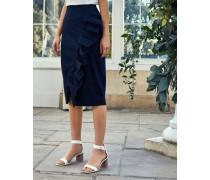 Ruffle Detail Cotton Pencil Skirt
