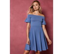 Gestricktes Skater-Kleid mit Bardot-Ausschnitt