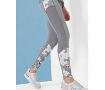 Oriental Blossom-Leggings mit Mesh-Einsätzen
