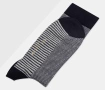 Socken mit Kontraststreifen