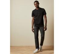 Jeans aus Dunkelgrauem Denim