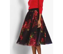 Ballerinarock mit Juxtapose Rose-Print