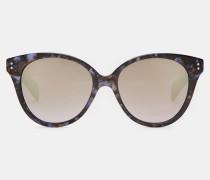 Ovale Oversized-sonnenbrille Mit Marmorierung