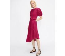 Puff Sleeve Midi Broderie Dress