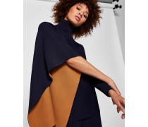 Asymmetrisches Strick-cape