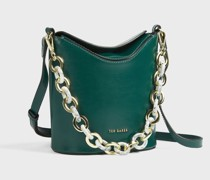 Resin Chain Mini Bucket Bag