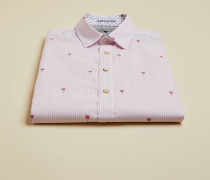 Hemd aus Einer Baumwoll-Leinenmischung mit Print
