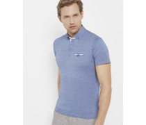 Woven polo shirt