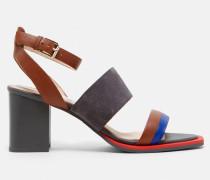 Wildleder-sandalen In Blockfarben Mit Absatz