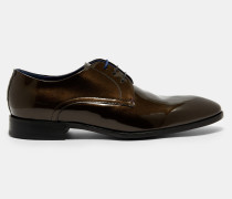 Derby-brogues Aus Lackleder