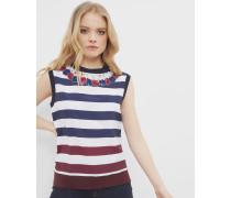 Ärmelloser Pullover Mit Rowing Stripe-print