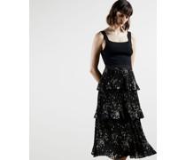 Elderflower Tiered Midi Dress