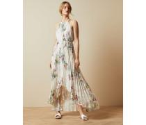 Kleid mit Plisseefalten und Pergola-Print
