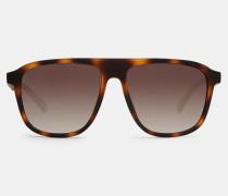 Rechteckige Pilotenbrille