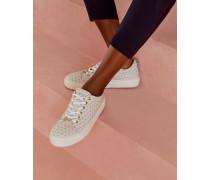 Leder-sneakers Mit Flamingo-print