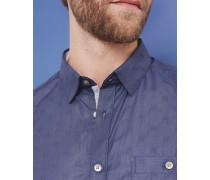 Baumwollhemd mit Dobby-Webmuster