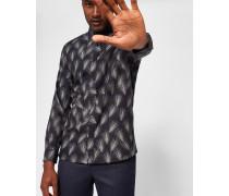 Baumwollhemd mit Palmen-Print