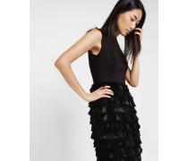 Kleid mit Federrock